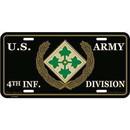 Eagle Emblems LP0637C Lic-Army, 004Th.Inf.Div.
