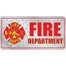 Eagle Emblems LP0671 Lic-Fire Department Logo (Diamond Plate) (6