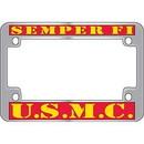 Eagle Emblems LP2923 Lic.Frame, Usmc, Semper Fi (Chrome) Moto (5