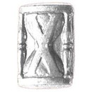 Eagle Emblems M7433 Dev-Hour Glass, Silver (5/16