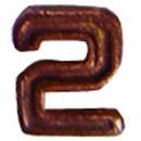 Eagle Emblems M7642 Dev-Numeral, Bronze, 2 (3/16