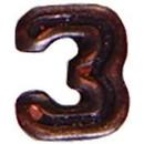 Eagle Emblems M7643 Dev-Numeral, Bronze, 3 (3/16