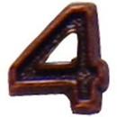 Eagle Emblems M7644 Dev-Numeral, Bronze, 4 (3/16
