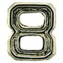 Eagle Emblems M7668 Dev-Numeral, Silver, 8 (3/16