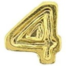Eagle Emblems M7674 Dev-Numeral, Gold, 4 (3/16