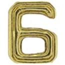 Eagle Emblems M7676 Dev-Numeral, Gold, 6 (3/16