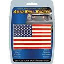 Eagle Emblems MD6125 Car Grill Badge-Usa Flag (3-3/4