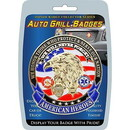 Eagle Emblems MD6126 Car Grill Badge-American Heroes (3-1/4