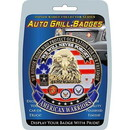 Eagle Emblems MD6128 Car Grill Badge-American Warriors (3-1/4