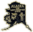 Eagle Emblems MG0002 Magnet-Sta, Alaska Approx.2 Inch
