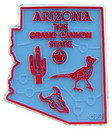 Eagle Emblems MG0003 Magnet-Sta, Arizona Approx.2 Inch