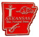 Eagle Emblems MG0004 Magnet-Sta, Arkansas Approx.2 Inch