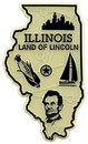 Eagle Emblems MG0014 Magnet-Sta, Illinois Approx.2 Inch