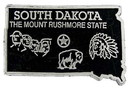 Eagle Emblems MG0042 Magnet-Sta, South Dakota Approx.2 Inch