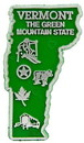 Eagle Emblems MG0046 Magnet-Sta, Vermont Approx.2 Inch