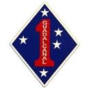 Eagle Emblems MG0126 Magnet-Usmc, 001St Div. (3-1/4