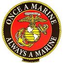 Eagle Emblems MG0131 Magnet-Usmc, Once A Marine (2-5/8