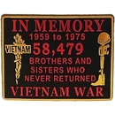 Eagle Emblems MG1250 Magnet-Vietnam, In Memory (2-3/4