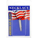 Eagle Emblems NC9401 Necklace-Bullet, 17Cal (Nickel)