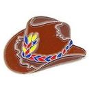 Eagle Emblems P00403 Pin-Cowboy, Hat, Brn (1