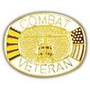Eagle Emblems P00564 Pin-Viet, Combat Vet, Hel. (1