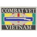 Eagle Emblems P00565 Pin-Viet, Combat Vet, Cib (1-1/8