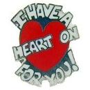 Eagle Emblems P00611 Pin-Fun, I Have A Heart On (1