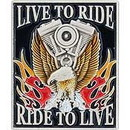 Eagle Emblems P00675 Pin-Live To Ride (1-1/8