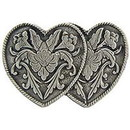 Eagle Emblems P00733 Pin-Hol, Heart, Two, Pwt (1