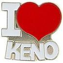 Eagle Emblems P00802 Pin-Game, Keno, I Heart (1
