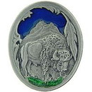 Eagle Emblems P00944 Pin-Bison W/Feather (1