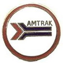 Eagle Emblems P01045 Pin-Rr, Amtrak (Round) (1