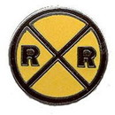 Eagle Emblems P01259 Pin-Rr, Crossing Sign (1