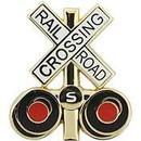Eagle Emblems P01464 Pin-Rr, Crossing Sign (1