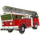 Eagle Emblems P03495 Pin-Veh, Fire, Truck, Red, W/ Ladder (1-5/8