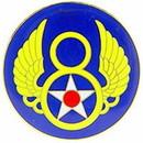 Eagle Emblems P03695 Pin-Usaf, 008Th (1-1/2