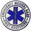 Eagle Emblems P03815 Pin-Emc, 1St Responder, Lrg (1-1/2