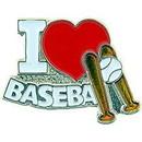 Eagle Emblems P03902 Pin-Baseball, I Heart (1