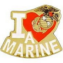 Eagle Emblems P03915 Pin-Usmc, I Love A Marine (1