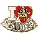 Eagle Emblems P03924 Pin-Soldier, I Love (1