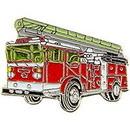 Eagle Emblems P05365 Pin-Veh, Fire, Truck, Red, W/ Ladder (1