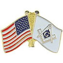 Eagle Emblems P05710 Pin-Org, Masonic Flag/Usa (1