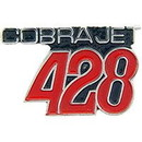 Eagle Emblems P06028 Pin-Car, Number, 428 Cobra (1