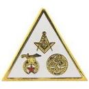 Eagle Emblems P06036 Pin-Org, Masonic 3 Emblem (1