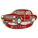 Eagle Emblems P06695 Pin-Car, Mustang, '65, Red (1