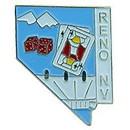 Eagle Emblems P09089 Pin-Nv, Reno (Map) (1