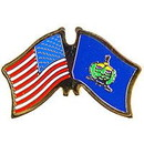 Eagle Emblems P09146 Pin-Usa/Vermont (Cross Flags) (1-1/8