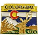 Eagle Emblems P09206 Pin-Colorado (Map) (1