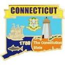 Eagle Emblems P09207 Pin-Connecticut (Map) (1