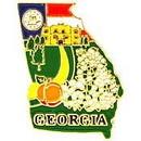 Eagle Emblems P09211 Pin-Georgia (Map) (1